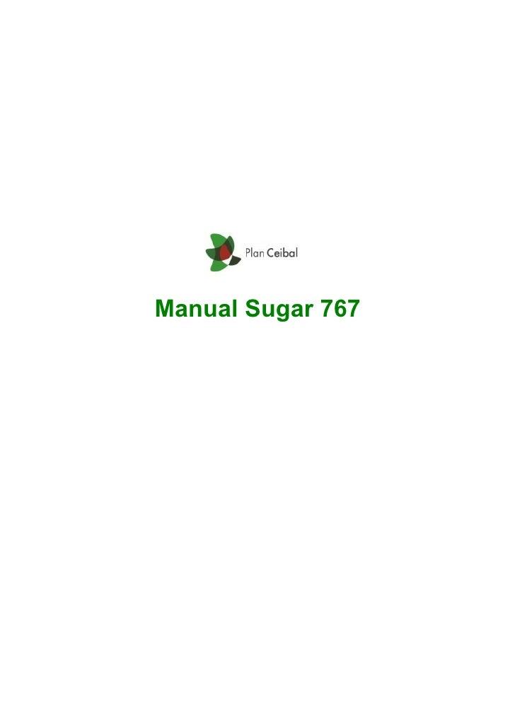 Manual Sugar 767