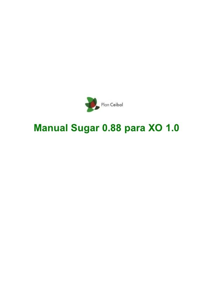 Manual sugar 0.88 para xo1
