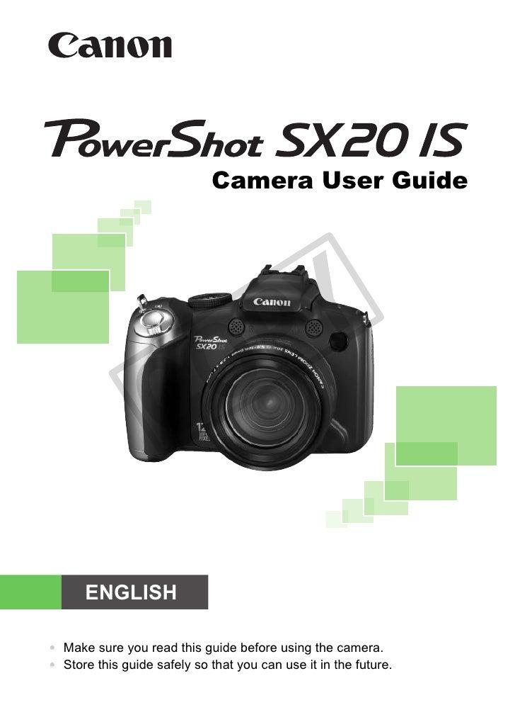 Camera User Guide                                     PY                     C         O       ENGLISH  • Make sure you re...