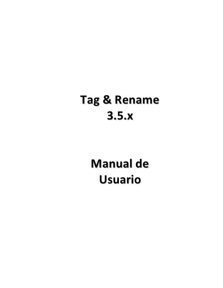 Manual tag&rename 3.5.4 full espanol