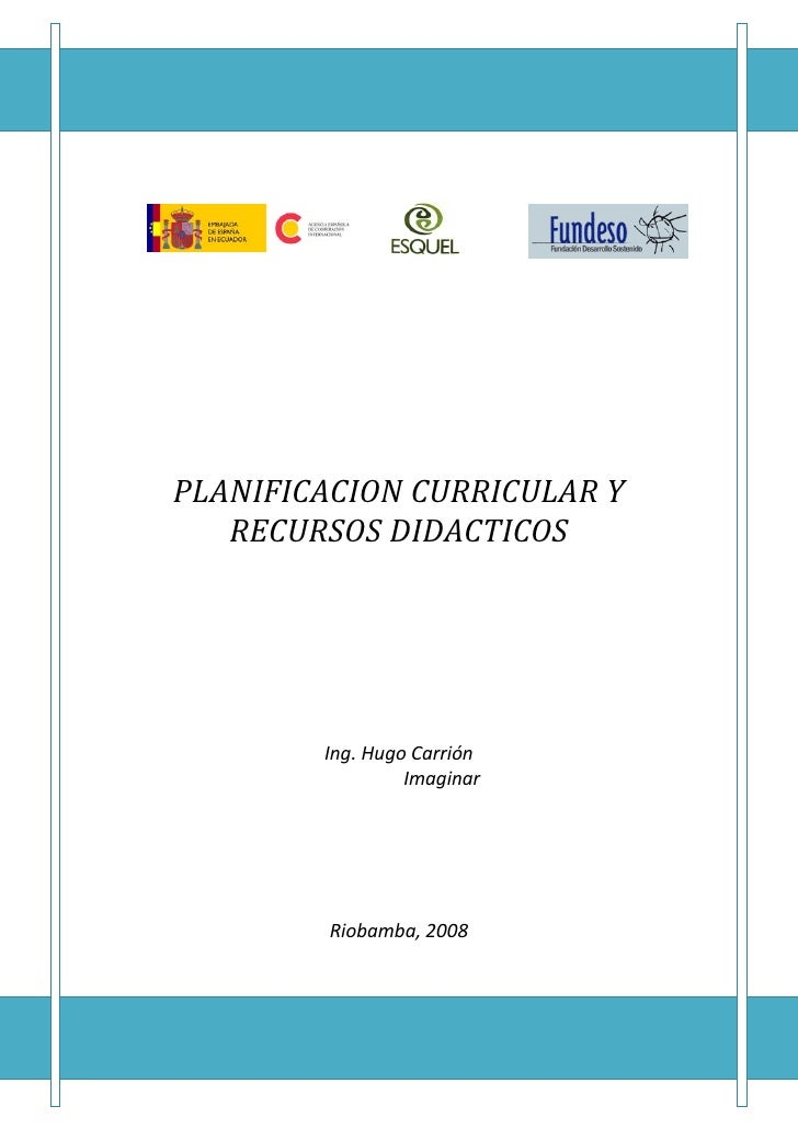 PLANIFICACIONCURRICULARY       RECURSOSDIDACTICOS                                                 ...