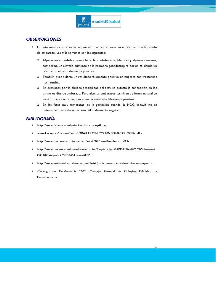 prueba de embarazo positiva de sangre pdf