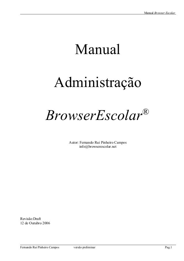 Manual técnico browser escolar