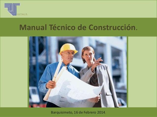 Manual tecnico de construccion - Tecnico en construccion ...