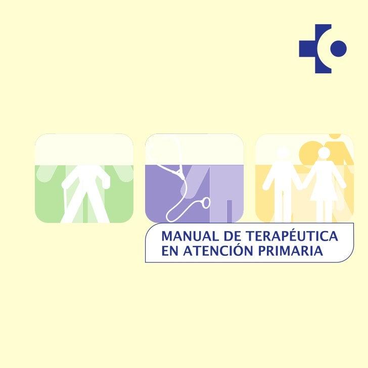 Manual      de terapéutica enatención primariaOSASUN SAILA                              DEPARTAMENTO DE SANIDAD           ...