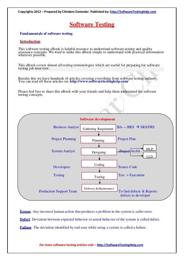 Manual testing help e book by softwaretestinghelp.com