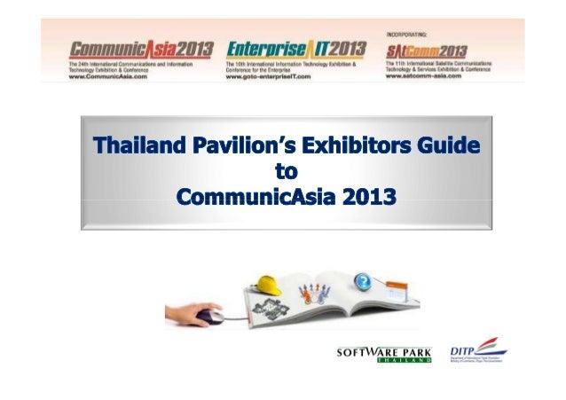 Thailand Pavilion's Exhibitors Manual for CommunicAsia2013