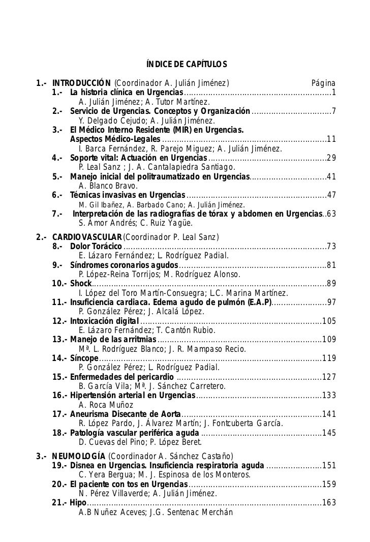 Manual Toledo De Protocolos Y ActuacióN En Urgencias Para Residentes