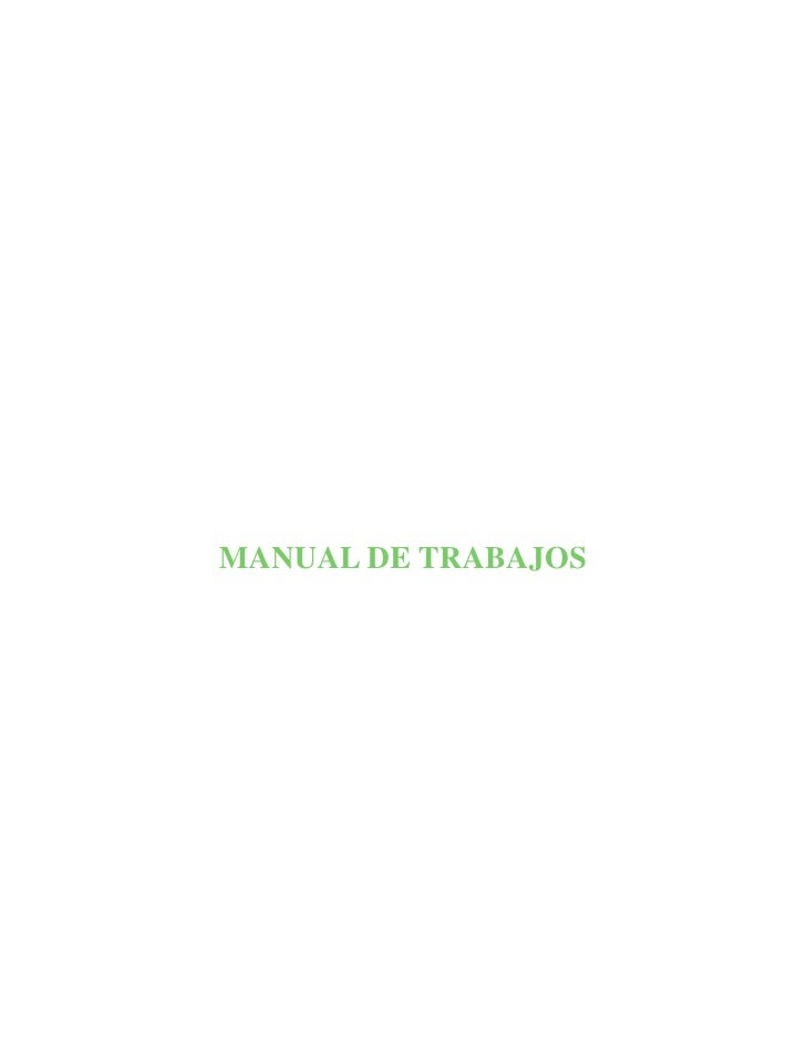 MANUAL DE TRABAJOS