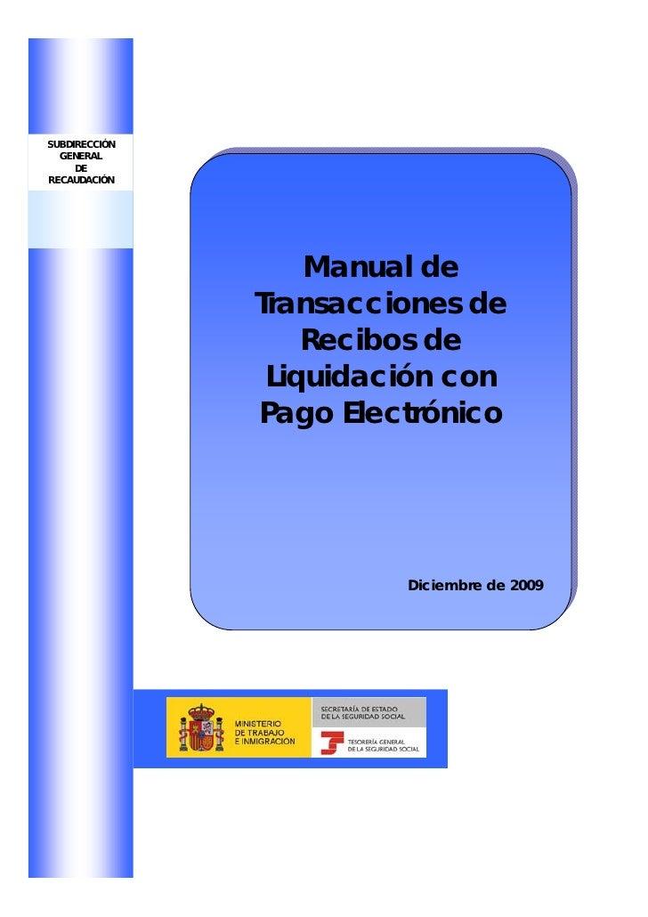 Manual transacciones recibos liquidacion pago electronico