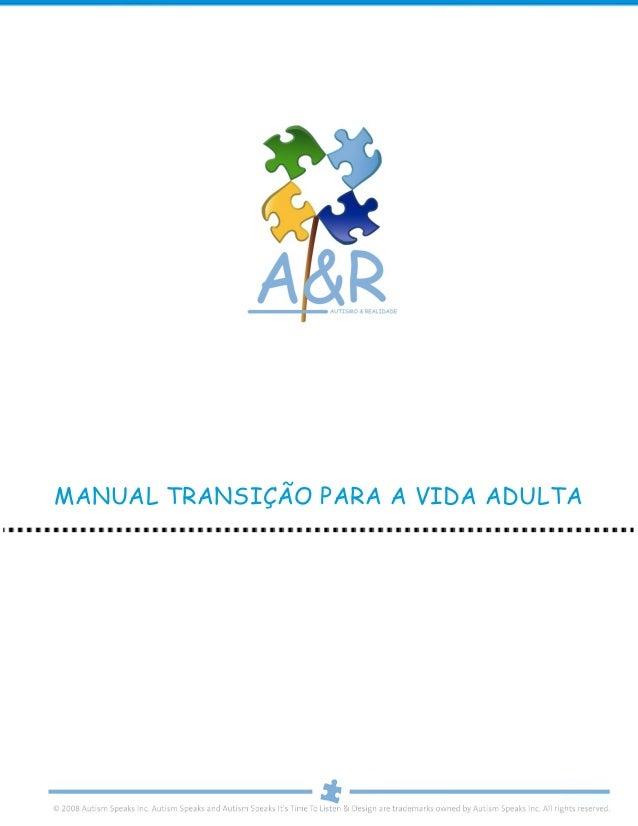 MANUAL TRANSIÇÃO PARA A VIDA ADULTA