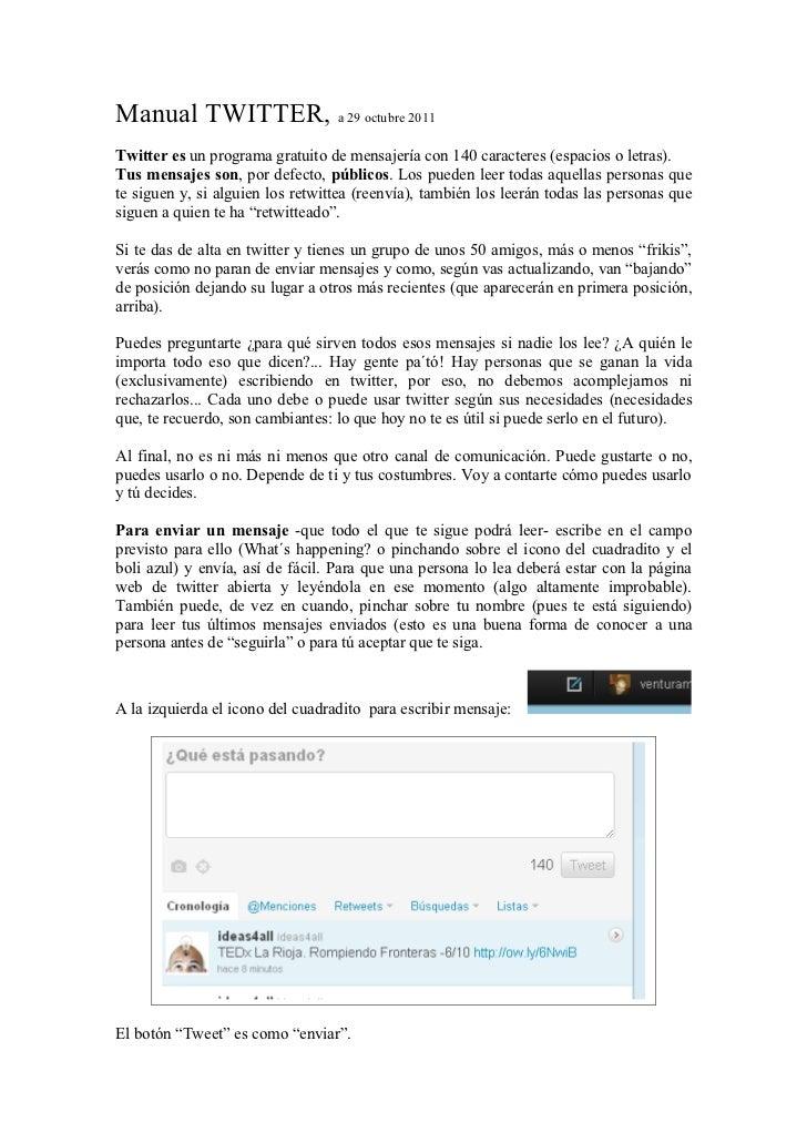 Manual twitter 29 oct 2011