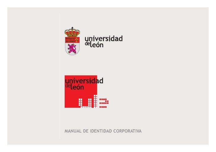 unileon - Manual de Identidad Corporativa de la Universidad de León