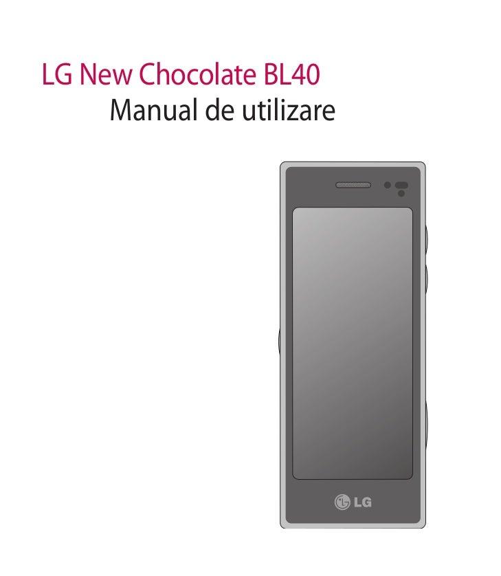 LG New Chocolate BL40     Manual de utilizare