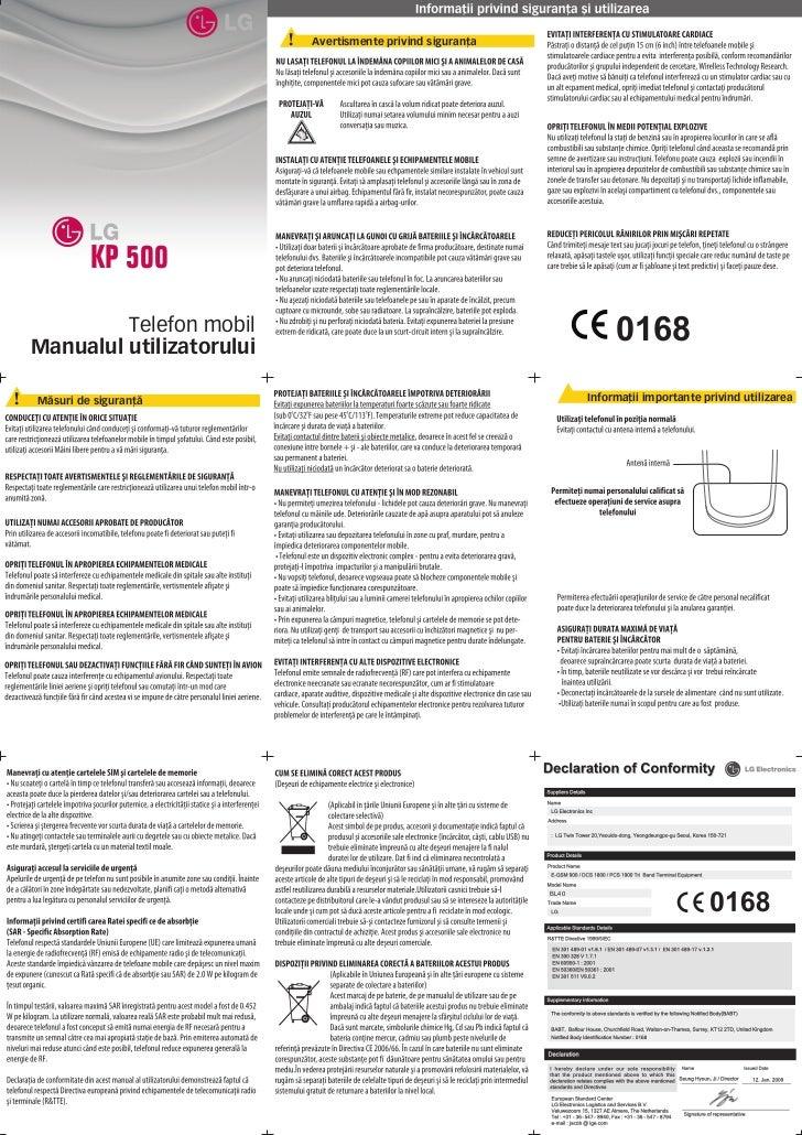 Manual utilizare ro_lg_kp500