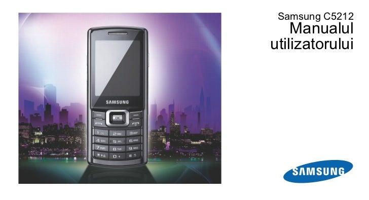 Samsung C5212    Manualulutilizatorului
