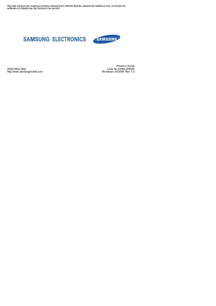 Manual utilizare samsung_m7600_beat_rom