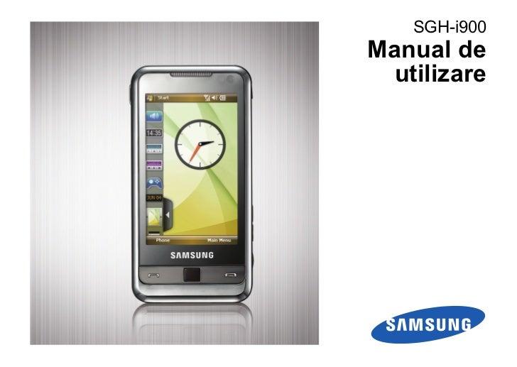 SGH-i900Manual de  utilizare