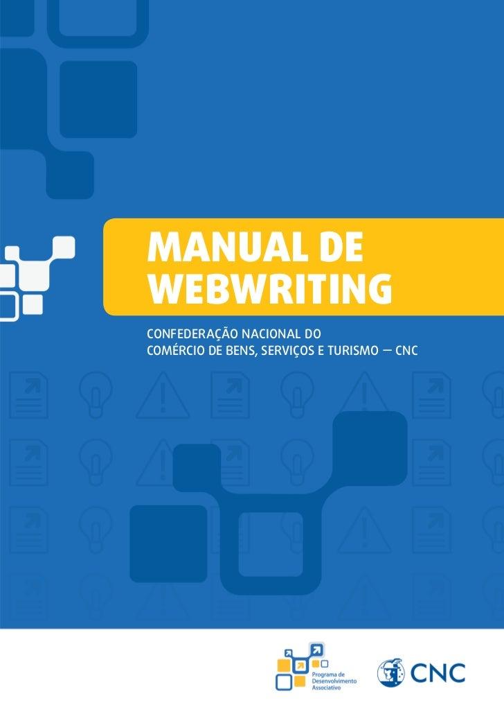 Manual deWebwritingConfederação Nacional doComércio de Bens, Serviços e Turismo — CNC