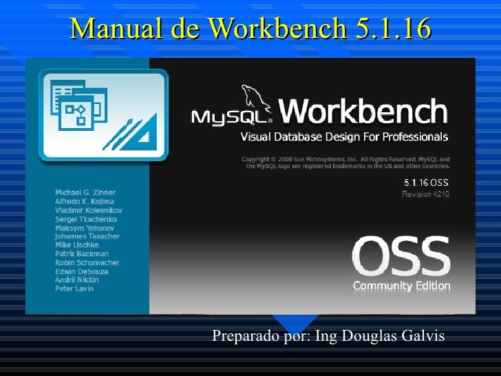 Manual de Workbench 5.1.16 Preparado por: Ing Douglas Galvis