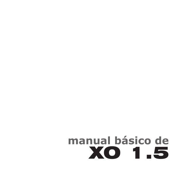 Manual xo1.5