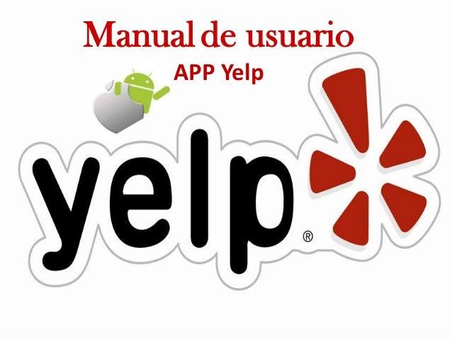 Manual yelp app