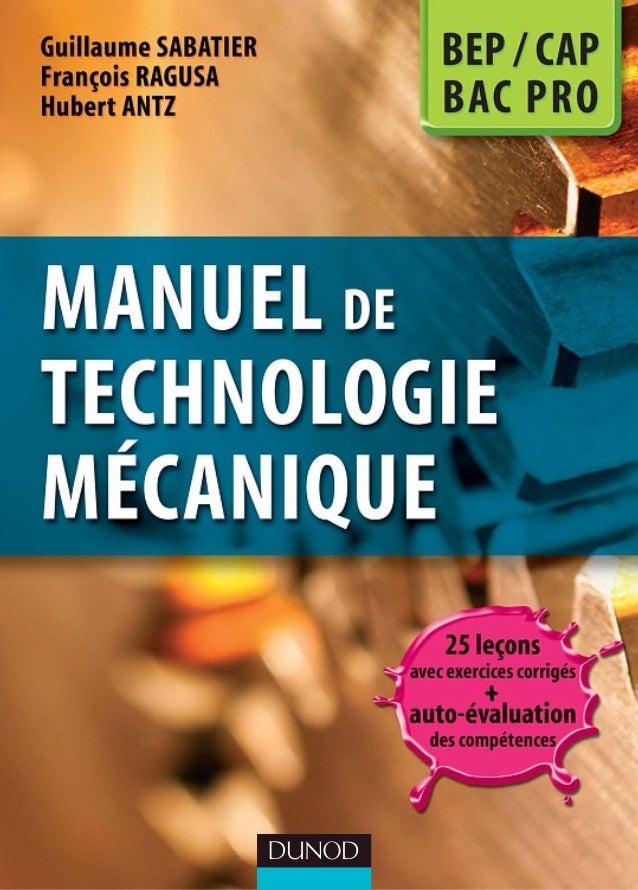 Manuel.de.technologie.mã©canique