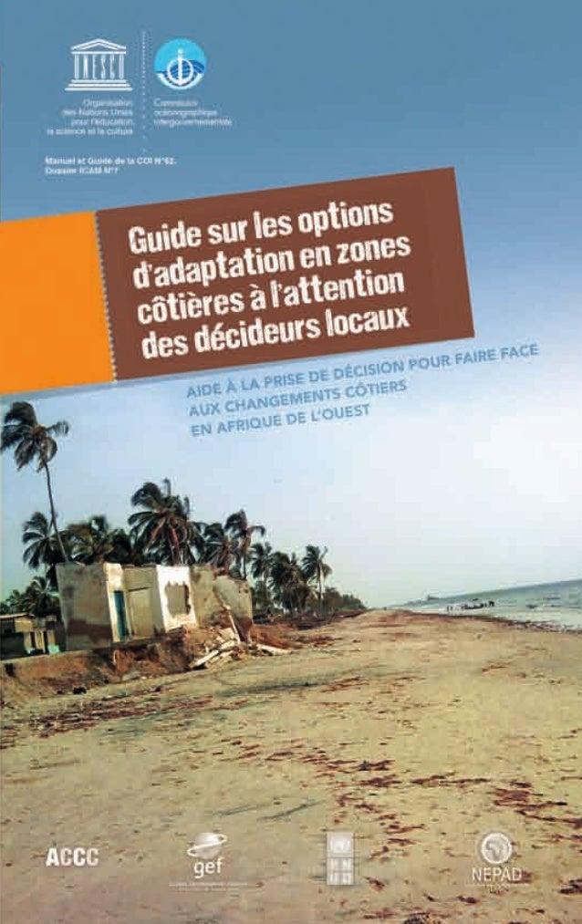 Résumé des effets et des coûts d'options d'adaptation                    en zones côtièresOPTIONS STRUCTURELLES           ...