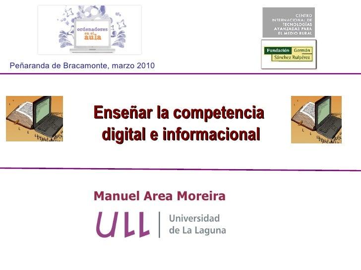 Enseñar la competencia digital e informacional