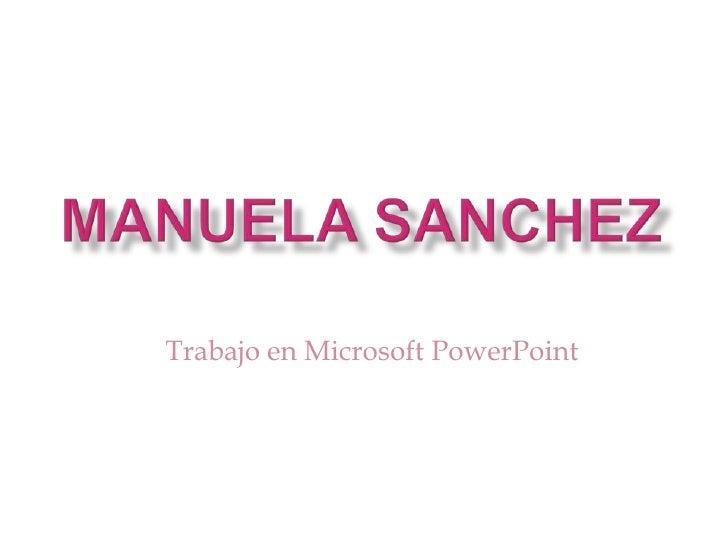 Trabajo en Microsoft PowerPoint