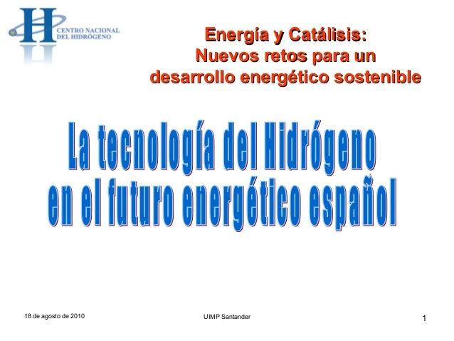 La tecnología del hidrógeno en el futuro energético español_Manuel Montes