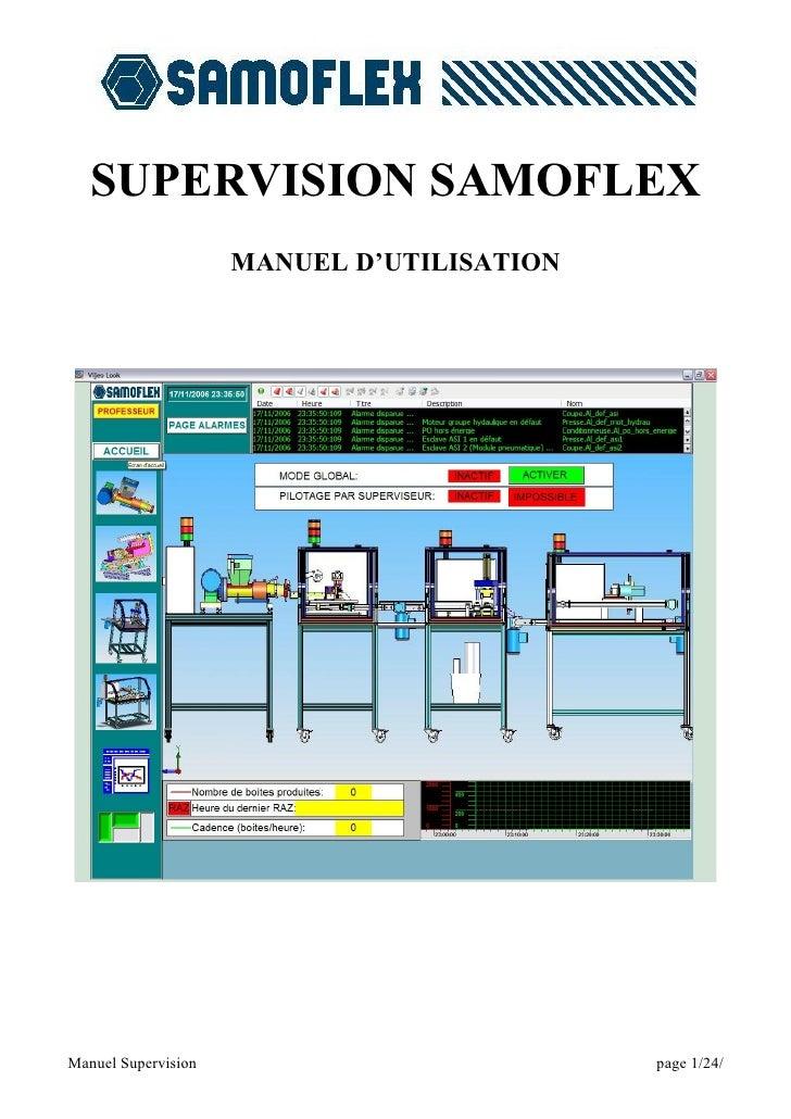 SUPERVISION SAMOFLEX                      MANUEL D'UTILISATION     Manuel Supervision                          page 1/24/