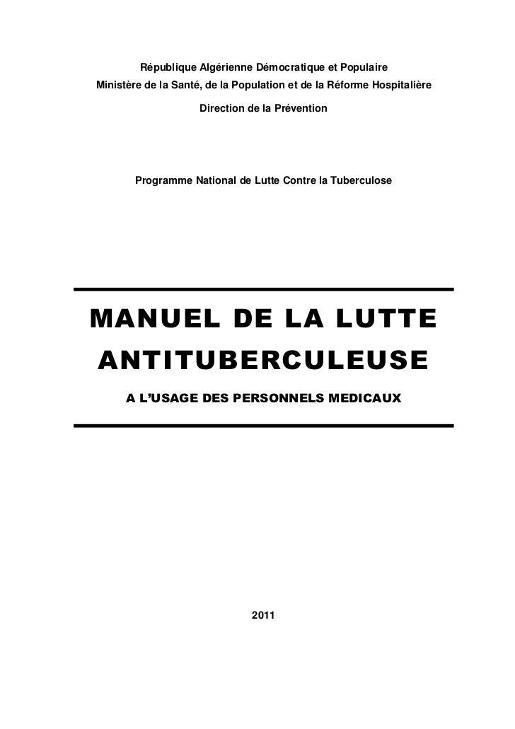 République Algérienne Démocratique et PopulaireMinistère de la Santé, de la Population et de la Réforme Hospitalière      ...