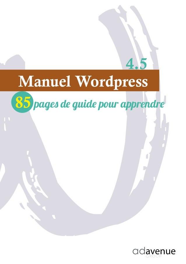 Manuel Wordpress 85 pages pour apprendre 4.1
