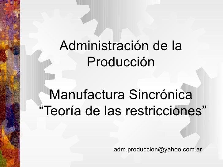 Manufactura Sincronica