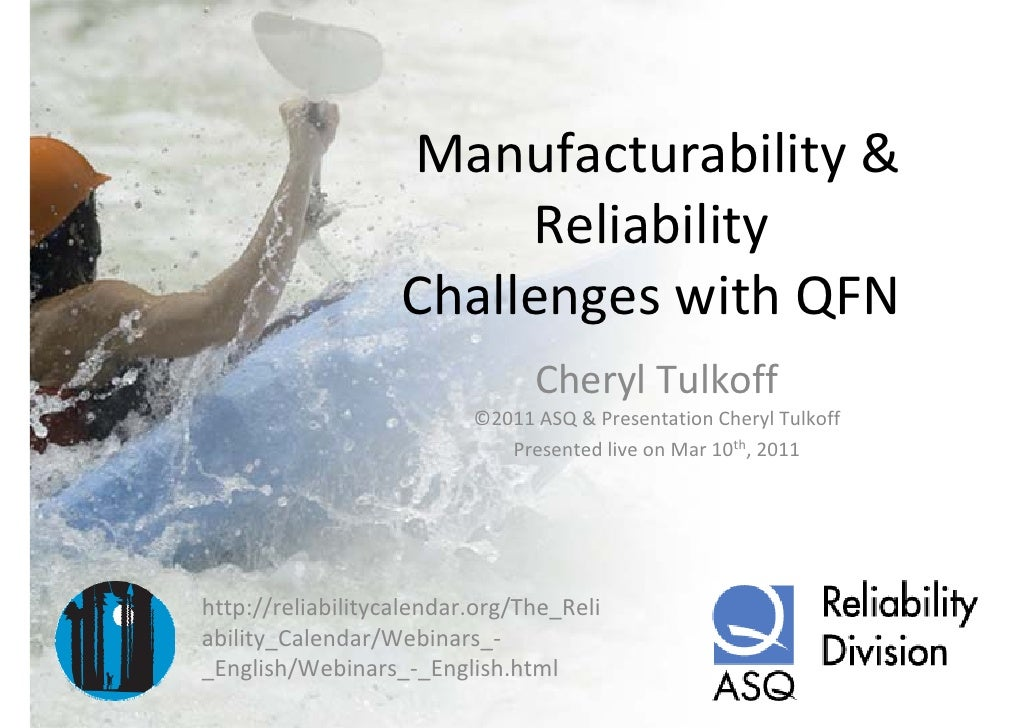 Manufacturability & reliability challenges with qfn