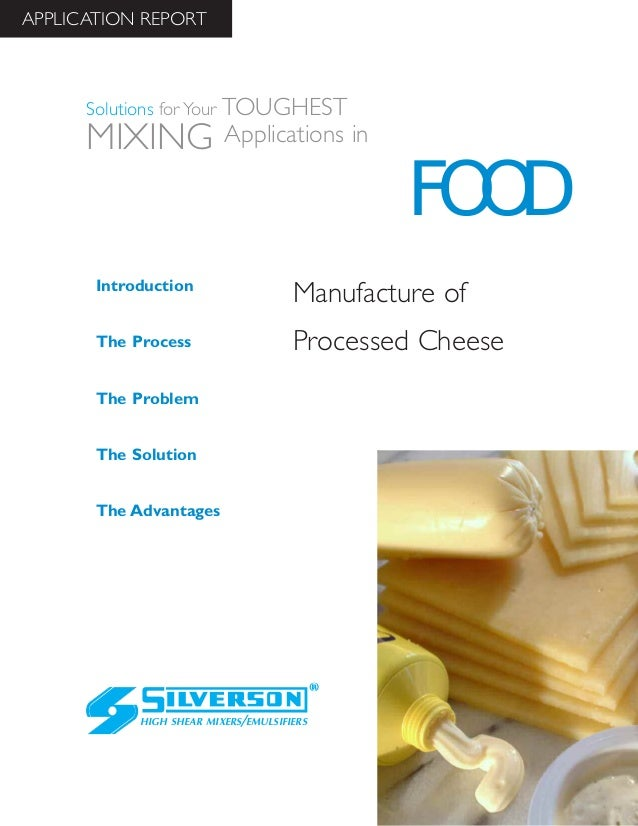 Food Industry Case Study: Manufacturing Processed Cheese