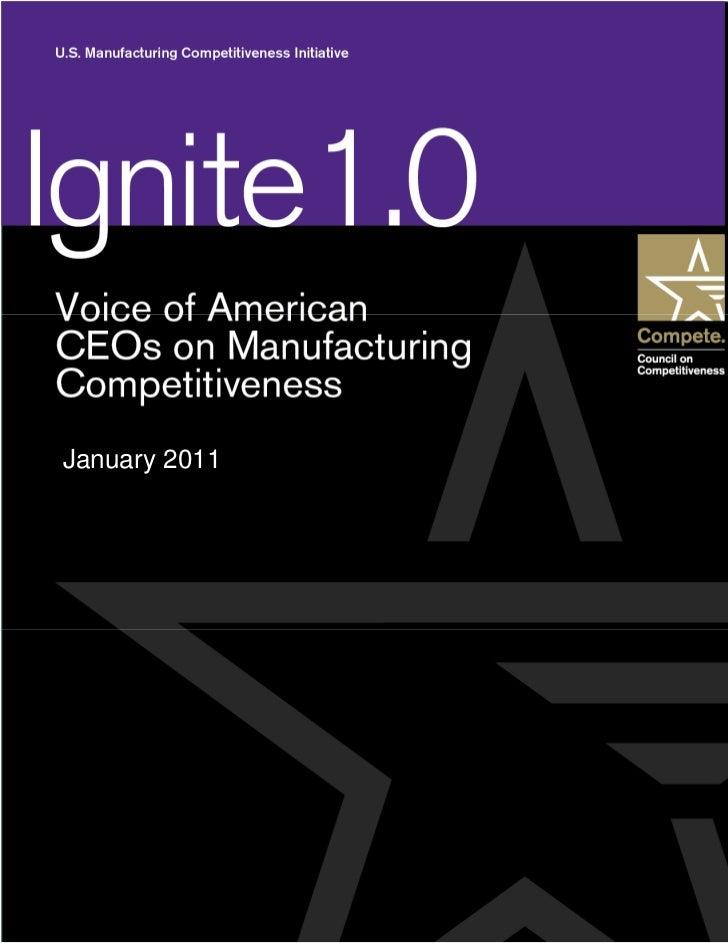 CEOs speak on U.S. Manufacturing Competitiveness