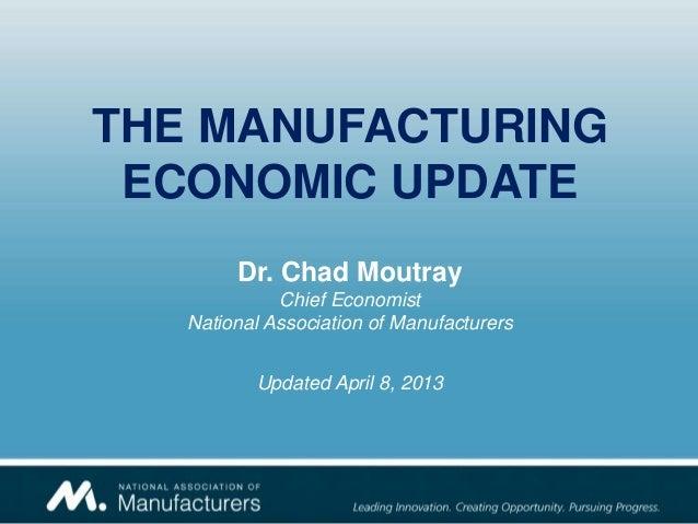 NAM's 2nd Quarter Manufacturing Update