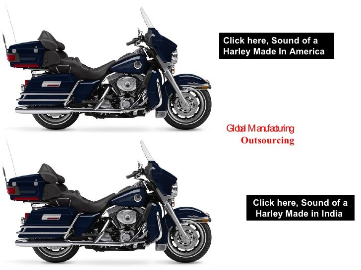Click here, Sound of a Harley Made in India  Click here, Sound of a Harley Made In America  Global Manufacturing  Outsourc...