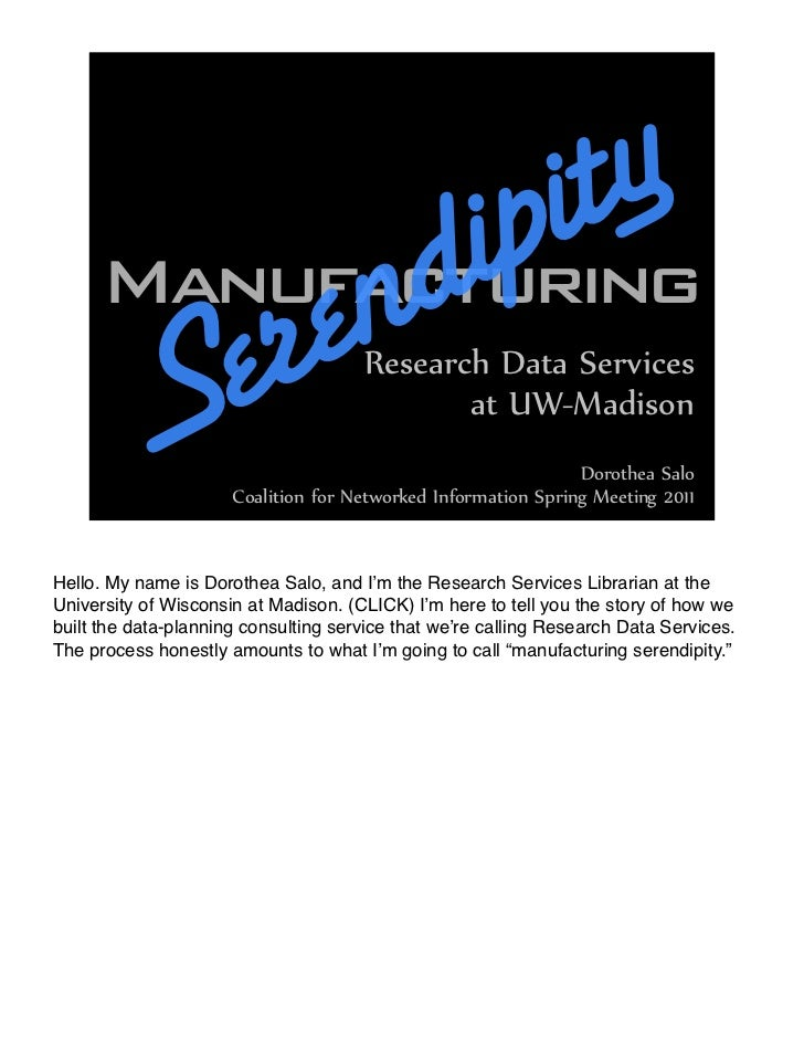 Manufacturing Serendipity