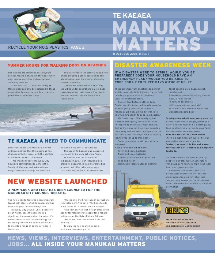 Manukau matters issue 7 2006
