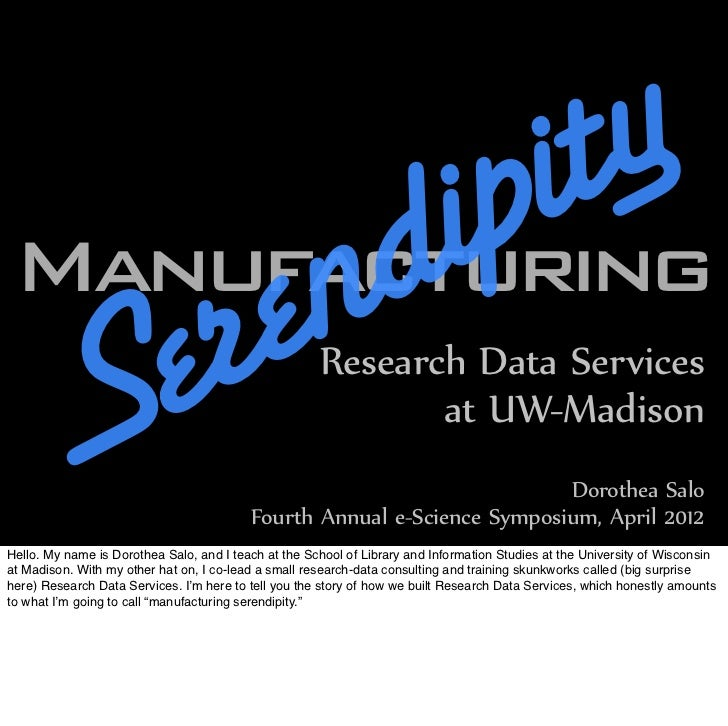 ipi t yManufacturing          r en d        Se                                            Research Data Services          ...