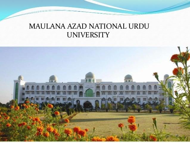 Maulana Azad National Urdu University, Hyderabad