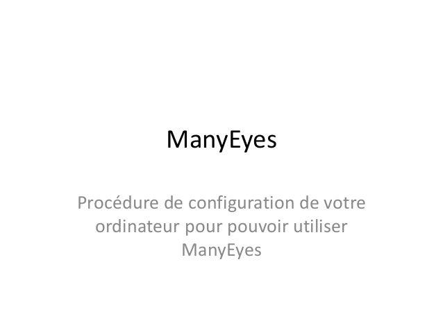 ManyEyes Procédure de configuration de votre ordinateur pour pouvoir utiliser ManyEyes