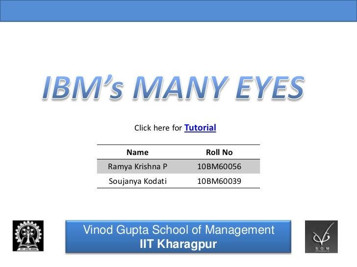 Vinod Gupta School of Management Indian Institute of Technology, Kharagpur            Click here for Tutorial          Nam...
