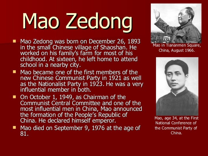 history of china under mao zedong Led by mao zedong's fourth wife, jiang qing (1913-1991), the so-called this group was a powerful political influence on chinese communism during final years of mao's life.