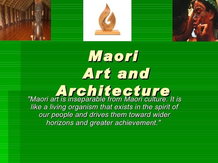 Maori Art And Architecture