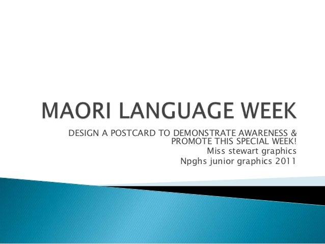 Maori lang week yr 9 2012