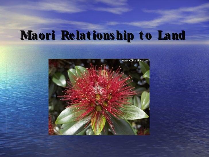 Maori   Relationship to Land